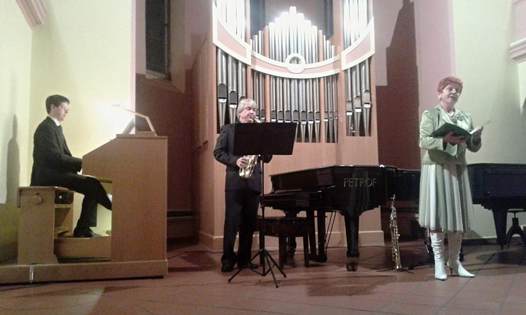 Výsledek obrázku pro Přemysl Kšica - varhany Virginie Walterová - zpěv Roman Fojtíček - saxofon