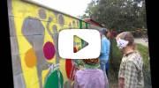 Malování na zeď - žáci výtvarného oboru ZUŠ Jeseník