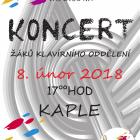 Koncert žáků klavírního oddělení