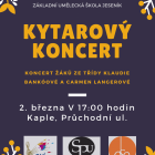 Koncert žáků ze třídy Klaudie Bankóové a Carmen Langerová
