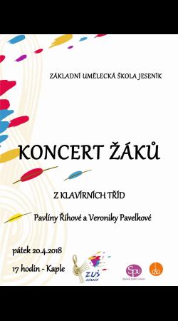 Koncert žáků z klavírních tříd Pavlíny Říhové a Veroniky Pavelkové