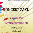 Koncert žáků z pěvecké třídy Kateřiny Zápecové