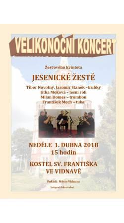 Velikonoční koncert žesťového kvinteta Jesenické žestě