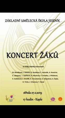 Koncert žáků ze třídy Zdeňky Kainarové