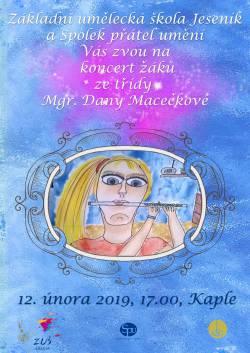 Koncert žáků ze třídy Mgr. Dany Macečkové