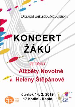 Třídní koncert ze třídy Heleny Štěpánové a Alžběty Novotné