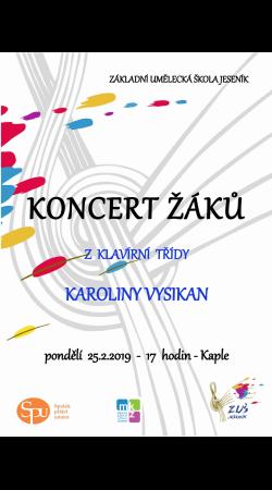 Koncert žáků ze třídy Karoliny Vysikan